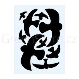 Ptačí siluety na sklo 9ks - černé