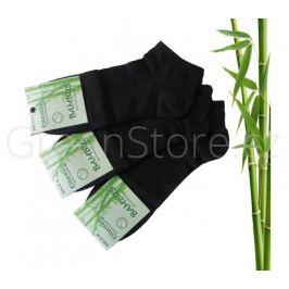 Bambusové ponožky pánské kotníkové, černé 43-46, 3 páry