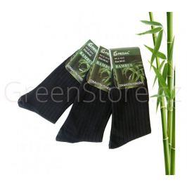 Bambusové ponožky pánské, černé 40-43, 3 páry