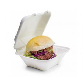 Burger box 18x18x9cm z cukrové třtiny (50ks)