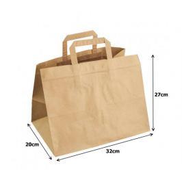Papírová taška kraft recykl. - 25x14x30cm (250ks)