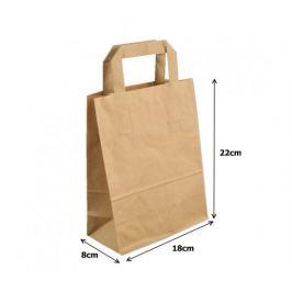 Papírová taška kraft recykl. - 18x8x22cm (250ks)
