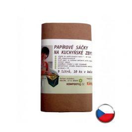 HBABio Papírové sáčky na kuchyňský odpad 9l (10ks)