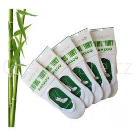 Bambusové ponožky dámské nízké, bílé 38-41, 5 párů