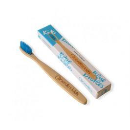 Nordics Dětský bambusový zubní kartáček - modrý