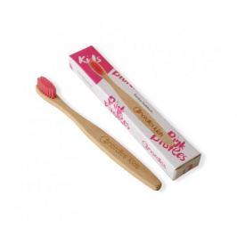 Nordics Dětský bambusový zubní kartáček - růžový