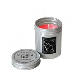 Svíčka ze sojového vosku v plechovce 100g - višeň Aromka