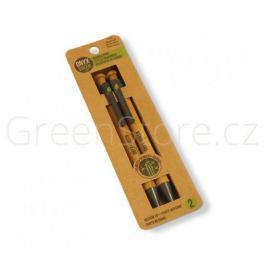 Sada 2 propisek z bambusu - černá náplň Onyx+Green