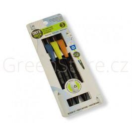 Sada 3 propisek z recyklovaného kartonu - černá náplň Onyx+Green