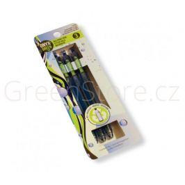 Sada 3 propisek z recyklovaného plastu - modrá náplň Onyx+Green
