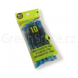 Gelová pera z recyklovaného plastu 10ks - modrá náplň Onyx+Green