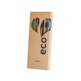 EcoHeart Dárkové balení bambusových kartáčků 3ks - var.2