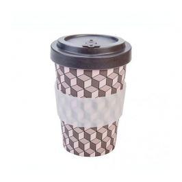 Woodway Kelímek na kávu z bambusu 400ml - Cubes