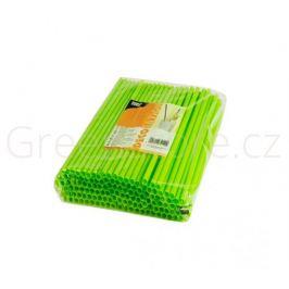 Bioplastová brčka ⌀6mm x 24cm - zelená (500ks) - doprodej