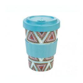 Woodway Kelímek na kávu z bambusu 400ml - Aztec Blue