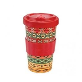 Woodway Kelímek na kávu z bambusu 500ml - Aztec Red