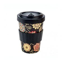 Woodway Kelímek na kávu z bambusu 400ml - Vintage Black