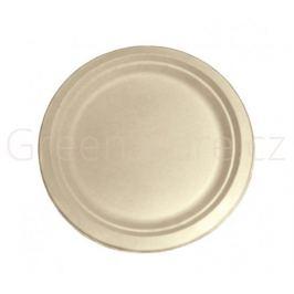 Kulatý talíř Natural 26cm z cukrové třtiny (50ks)
