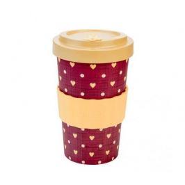 Woodway Kelímek na kávu z bambusu 500ml - Love Beige