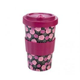 Woodway Kelímek na kávu z bambusu 500ml - Roses