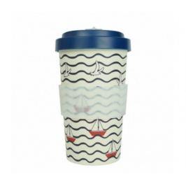 Woodway Kelímek na kávu z bambusu 500ml - Summer Blue
