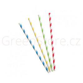 Papírová brčka ⌀6mm x 20cm - mix barev (250ks)