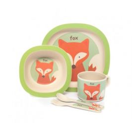 Zopa 5 dílná dětská jídelní sada - liška