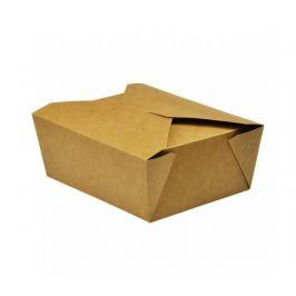 Papírový kraft box 1300ml - 15x12x6,5cm (300ks)