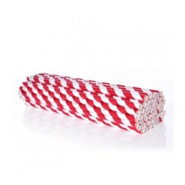 Ekoslámky Papírová brčka 50ks - červená GoEco