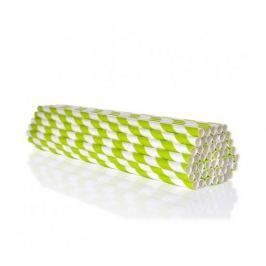 Ekoslámky Papírová brčka 50ks - zelená GoEco