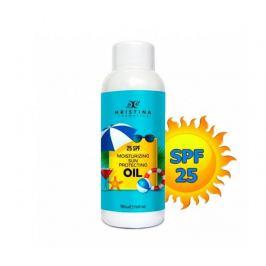 Přírodní hydratační olej na opalování 25 SPF 150ml Hristina