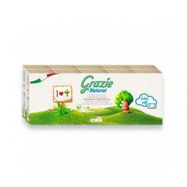 Recyklované kapesníky 4-vrstvé, 10 balení Grazie Natural