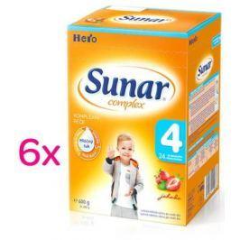 Sunar complex 4 jahoda 6 x 600g - výhodné balení