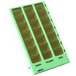 Dávkovač léků OBZOR typ 02 týdenní zelený
