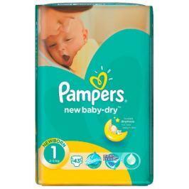 PAMPERS New Baby Newborn 2-5kg dětské pleny 43ks