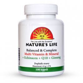Nature`s Life 04 Multivit.+min.+echin.+Q10 tbl.100