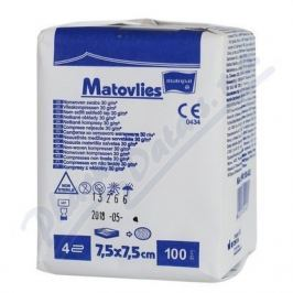 Matovlies 7.5x7.5cm 100ks kompres netk.text30g 4vr