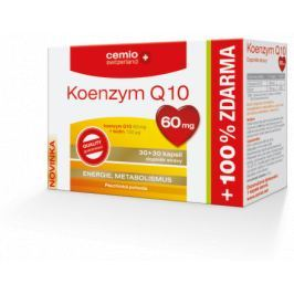 Cemio Koenzym Q10 60mg s biotinem cps.30+30 ČR/SK