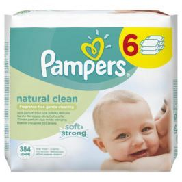 Pampers Ubrousky Naturally Clean 6x64ks