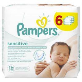 PAMPERS ubrousky Wipes Sensitive 6x56 ks