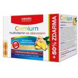 Cemio Multivitamin se zázvorem tbl. 80+40 ČR/SK