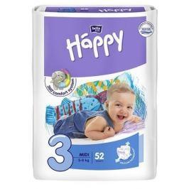 Happy Midi dětské pleny 52 ks Jednorázové dětské pleny