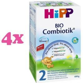 HiPP MLÉKO HiPP 2 BIO Combiotik 4x600g Pokračovací kojenecká mléka