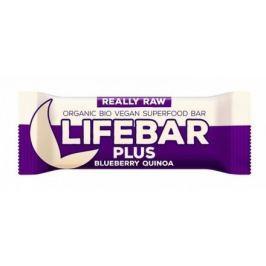 Lifebar Plus tyčinka borůvková quinoa BIO 47 g Lifefood Sušenky a tyčinky