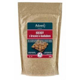 Krekry s brusnicí a baobabem 250 g Adveni Bezlepkové cukrovinky