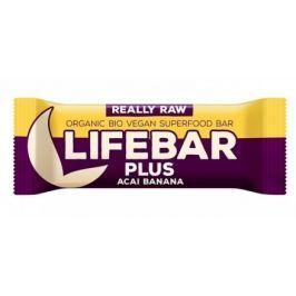 Lifebar Plus tyčinka acai s banánem BIO 47 g Lifefood Sušenky a tyčinky