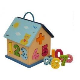 Dřevěný edukační domeček Baby Mix Dřevěné hračky