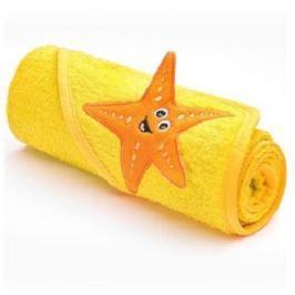 Dětská osuška Sensillo 3D Zvířátka 75x75 cm yellow