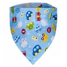 Dětský šátek, auta Textilní bryndáčky