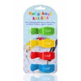 Kočárkové kolíčky, zelený + žlutý + červený + modrý